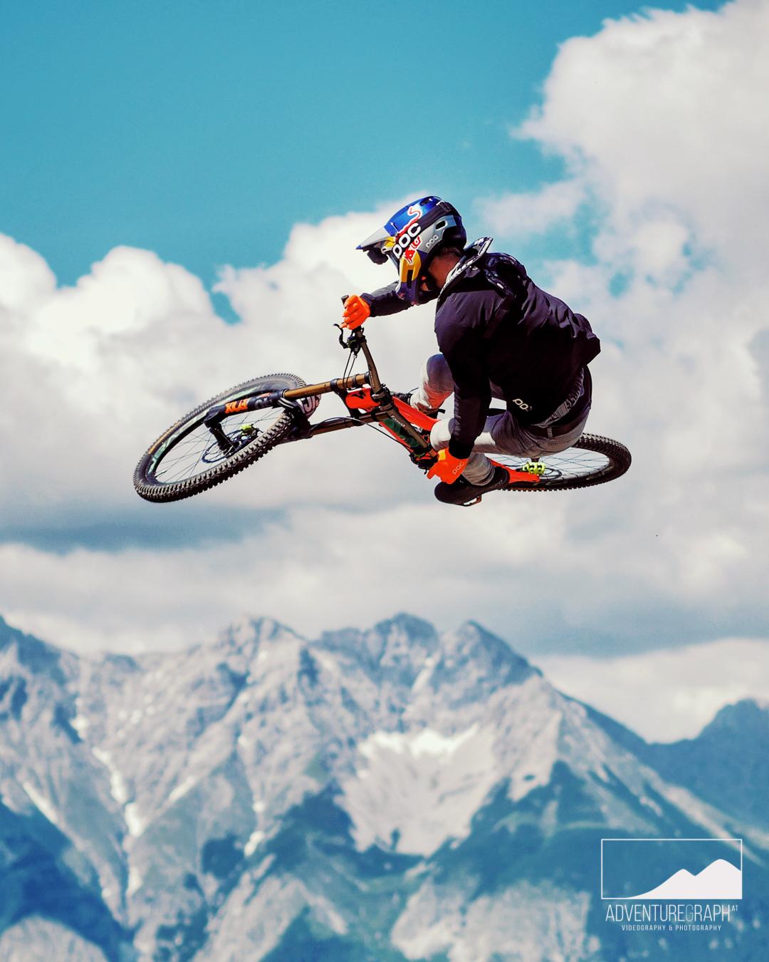 Whip-Off beim Crankworx Innsbruck mit Fabio Wibmer.